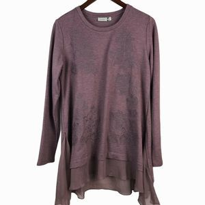 LOGO Lounge Embroidered Tunic Top